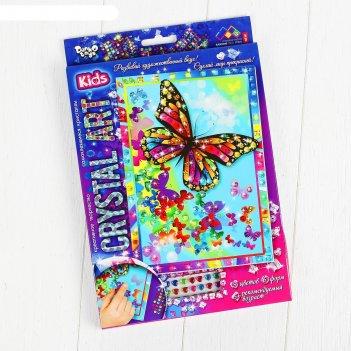 Набор креативного творчества «самоклеящиеся кристаллы. бабочка» серии «cry