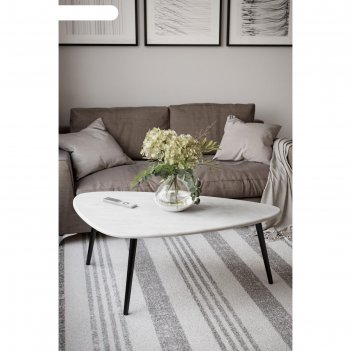 Стол журнальный «эланд», 1200 x 700 x 460 мм, цвет белый бетон