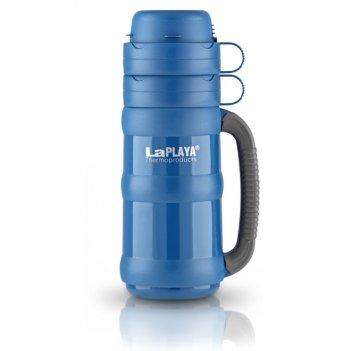 Термос со стеклянной колбой laplaya traditional 35-100, blue (1 литр)