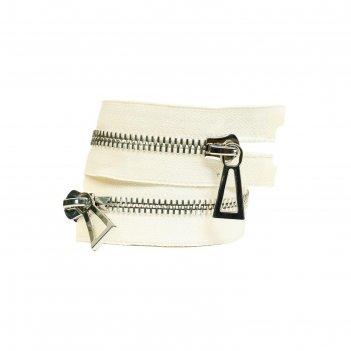 Молния для одежды, №10, 100 см, цвет белый