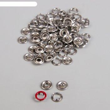 Кнопки рубашечные, d = 9,5 мм, 1000 шт, цвет красный
