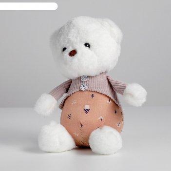 Мягкая игрушка «мишутка в кофте», цвета микс