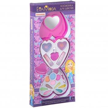 Eva moda. 2-уровневая косметичка-сердце - набор детской декора