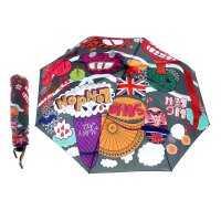 Зонт женский flioraj лондон, 3 сложения, суперавтомат, сатин
