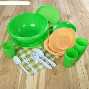Набор посуды для пикника на 6 персон «вечеринка», 32 предмета