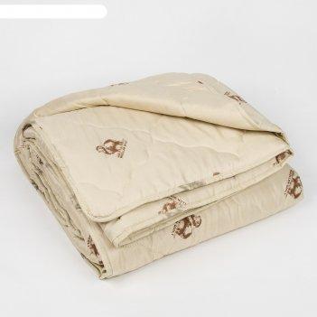 Одеяло всесезонное адамас овечья шерсть, размер 200х220 ± 5 см, 300гр/м2,