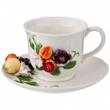 Чайный набор на 1 персону изобилие 2пр. 220мл (кор=12наб.)