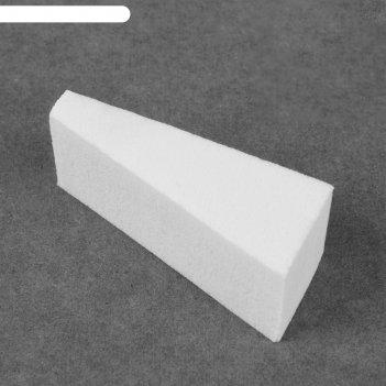 Спонж для лица д/тон. крема треугольник 5,2*2,2см пакет qf белый