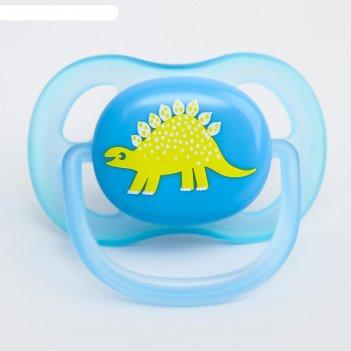 Соска-пустышка ортодонтическая, силикон, от 0 мес., серия ultra air, для м