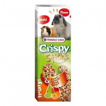 Палочки versele-laga crispy для кроликов и морских свинок, с фруктами, 2х5