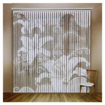 Штора со шторной лентой, размер 235х255 см, цвет белый