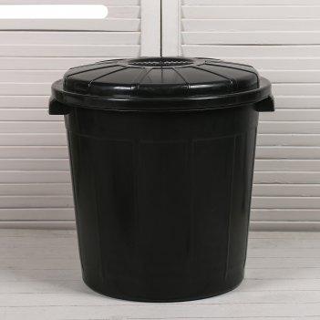 Бак хозяйственно-бытовой, 40 л, с крышкой, чёрный