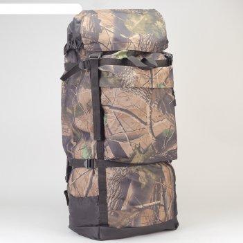 Рюкзак туристический на стяжке шнурком лес, 1 отдел, 3 наружных кармана, о