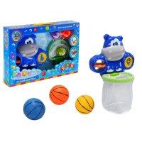 Игрушка для ванной водный баскетбол бегемотик