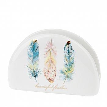 Салфетница перья 12,5*3,5*8 (подарочная упаковка)