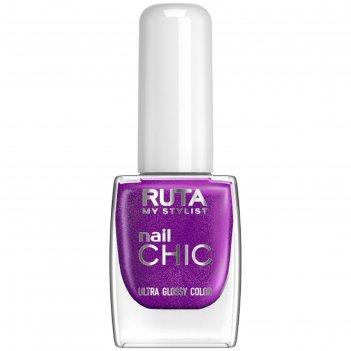 Лак для ногтей ruta nail chic, тон 16, анютины глазки