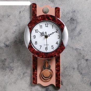 Часы настенные, серия: маятник, элея, 17.5х35 см