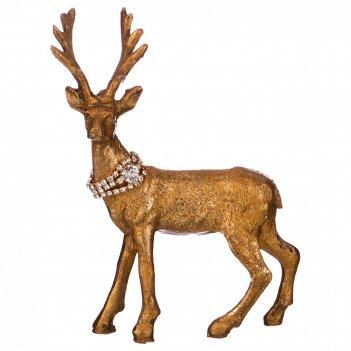 Фигурка олень со стразами 13,5*6,5*14,5 см (мал-6 шт./кор=72 шт.)
