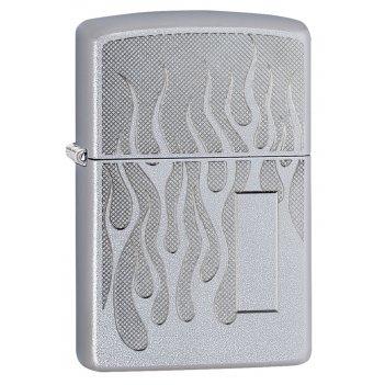 Зажигалка zippo с покрытием satin chrome, латунь/сталь, серебристая, матов