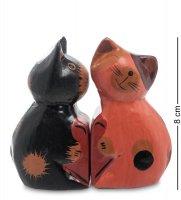 28-023 статуэтка mini кот и кошка поцелуй, набор 2 шт