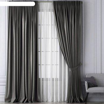 Комплект штор «шанти», размер 170х270 см, серый