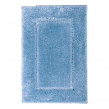 Коврик для ванной комнаты stadion, цвет голубой, 55х85 см