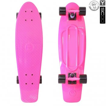 402-p скейтборд y-scoo big fishskateboard 27″ винил 68,6х19 с сумкой
