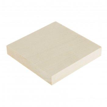 Доска для резьбы, липовая 100х100х15 мм