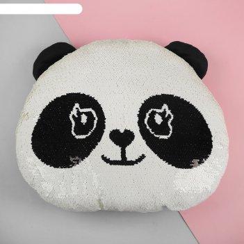 Мягкая игрушка-подушка панда пайетки