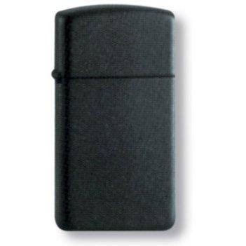 1618 black matte slim zippo