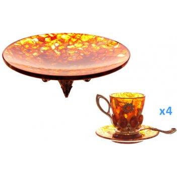 Набор кофейный солнышко 4 п. c конфетницей