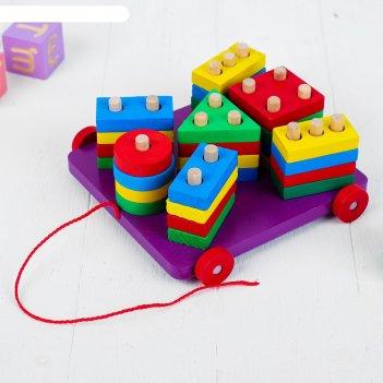 Пирамидка логическая - каталка, в пакете