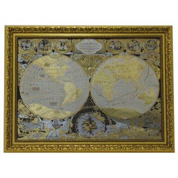Панно карта известного мира жана баптиста нолина (покрытие зол