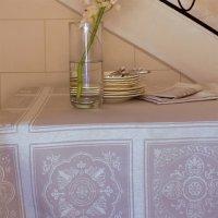 Дорожка 55х150 см, смесовая ткань, цвет серый, серия olympia