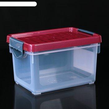 Ящик для хранения mybox 5,1 л зеленый прозрачный