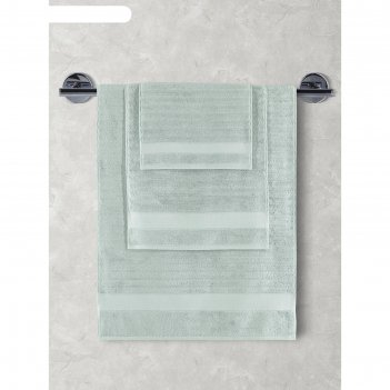 Махровое полотенце karna flow, размер 40х60 см, цвет зелёный