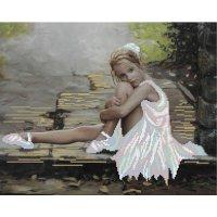 """Рисунок для вышивания бисером """"маленькая балерина"""""""