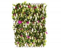 Декоративное ограждение гибискус фиолетовый 240x60 см