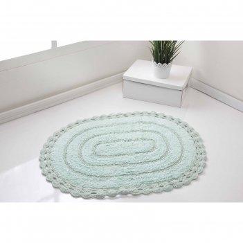 Коврик для ванной, yana, 60x100 см, цвет светло-зелёный