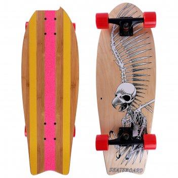 Скейтборд от-911, размер 67х24,5 см, колеса pu d=6 см, abec 9, алюмин.рама