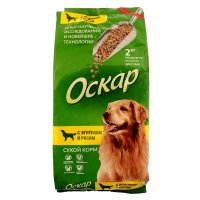 Сухой корм оскар для взрослых собак, с ягненком и рисом, 2 кг