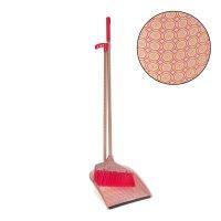 Набор для уборки: совок и щетка ленивка диско