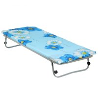Кровать раскладная 190х70 см гость, сетка квадратное звено, матрас полиэст