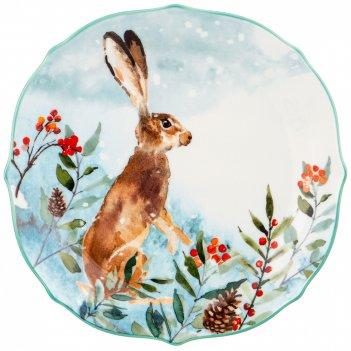 Тарелка закусочная lefard лесная сказка заяц 20,5 см