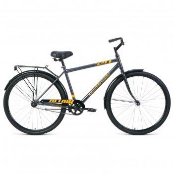 Велосипед 28 altair city high, 2020, цвет серый/оранжевый, размер 19