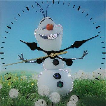Картина сваровски - часы летний снеговик