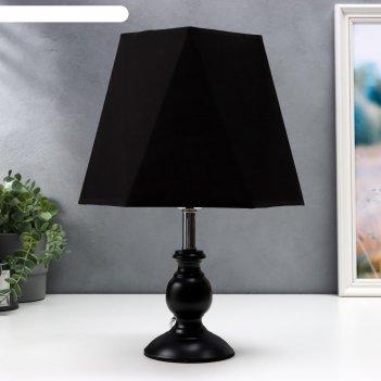 Лампа настольная 58086/1 1х40вт е27 черный 20х20х36 см