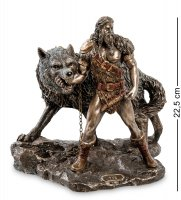 Ws-921 статуэтка тюр - бог воинской храбрости и враг богов - фенрир