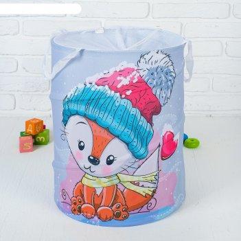 Корзина для хранения игрушек «кактусы и ламы» 35x35x45 см