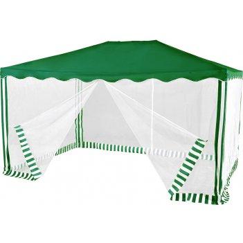 1088 тент-шатер садовый greenglade водонепроницаемый (3х4х2,5 м) зеленый